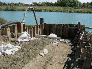 Photograph of coffer dam.