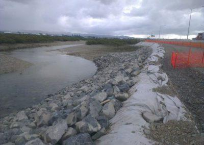 Coastal erosion protection works