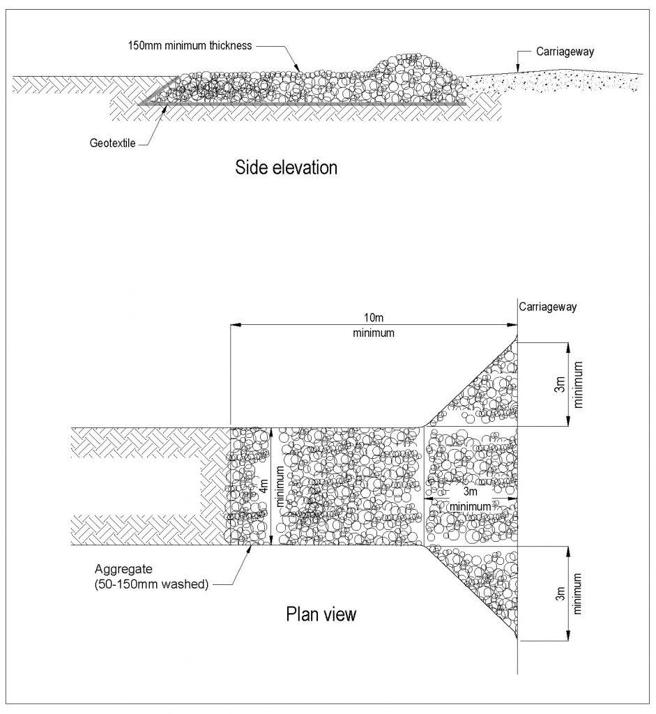 Side elevation, and Plan view.